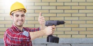 Профессионал рабочий-строителя стоковая фотография rf