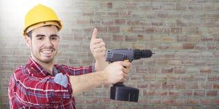 Профессионал рабочий-строителя стоковая фотография