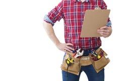 Профессионал рабочий-строителя стоковые фото