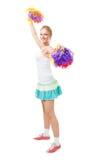 профессионал руководителя cheer ввел женщину в моду стоковая фотография rf