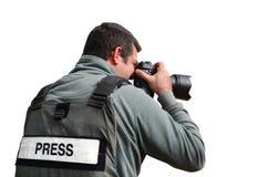 профессионал фотокорреспондента Стоковые Фото