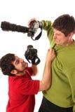 профессионал 2 фотографов бой Стоковое Изображение RF