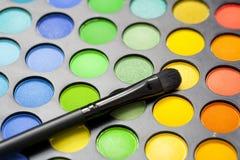 профессионал eyeshadow щетки стоковое фото