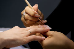 профессионал manicure Стоковое фото RF