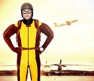профессионал parachutist стоковые фотографии rf