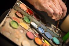 Профессионал составляет комплект цвета стоковая фотография