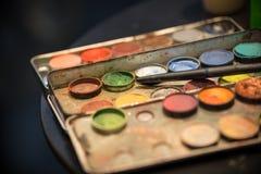 Профессионал составляет комплект цвета стоковые фотографии rf