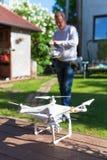 Профессионал фантома 3, трутень вертолета стоковое изображение rf