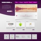 Профессиональная иллюстрация вектора шаблона вебсайта, Стоковые Изображения