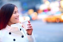 Профессиональная молодая городская женщина Нью-Йорк стоковые изображения