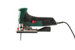 Профессиональная пила джига изолированная на белизне Стоковая Фотография RF