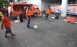 Профессиональное обучение футбола Стоковая Фотография RF