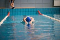 Профессиональные заплывы пловца человека стоковые фотографии rf