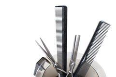 Профессиональные инструменты расцветки волос - изображение запаса Стоковая Фотография RF