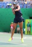Профессиональные ключи Madison теннисиста Соединенных Штатов в действии во время ее спички четвертьфинала Рио 2016 Олимпийских Иг Стоковые Изображения