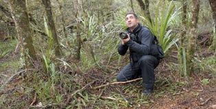 Профессиональные природа, живая природа и фотограф перемещения стоковое фото