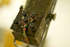 Профессиональный винтажный микрофон; Студии дороги аббатства, Лондон Стоковые Фотографии RF