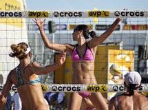 Профессиональный волейбол пляжа Стоковое фото RF