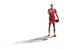 Профессиональный игрок valleyball изолированный на белизне Стоковое Изображение RF