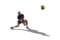 Профессиональный игрок valleyball изолированный на белизне Стоковое Изображение