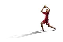Профессиональный игрок valleyball изолированный на белизне Стоковые Фотографии RF