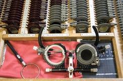 Профессиональный инструмент diopter optometrist стоковые изображения rf