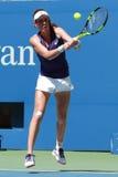 Профессиональный теннисист Johanna Konta Великобритании в действии во время ее США раскрывает спичку 2016 круглую 4 Стоковое Фото