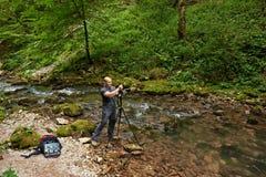 Профессиональный фотограф природы Стоковые Фото