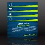 Профессиональный шаблон рогульки дела, дизайн крышки или корпоративная брошюра Стоковое Изображение RF
