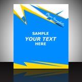 Профессиональный шаблон рогульки дела, дизайн крышки или корпоративная брошюра Стоковые Фотографии RF
