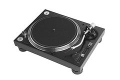 Профессиональный turntable dj на белизне Стоковые Изображения RF