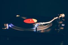 Профессиональный turntable dj с освещением Стоковое Фото