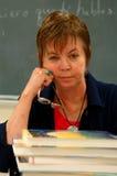 профессор женщины 2 коллежей стоковое изображение
