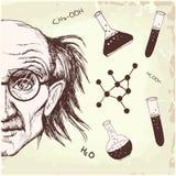 Профессор химии бесплатная иллюстрация