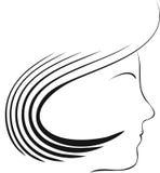профиль девушки Стоковое Изображение