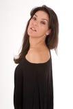 Профиль женщины в черноте Стоковая Фотография