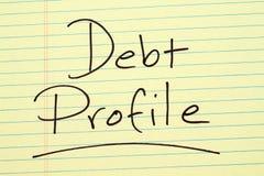 Профиль задолженности на желтой законной пусковой площадке Стоковое Изображение RF