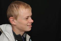 профиль мальчика подростковый Стоковое фото RF