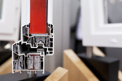 Профиль окна PVC Стоковое фото RF