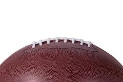 Профиль предпосылки футбола на белизне Стоковая Фотография RF