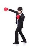 Профиль успешный пробивать бизнесмена Стоковые Фотографии RF