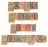 профит принципов планеты людей Стоковые Фотографии RF