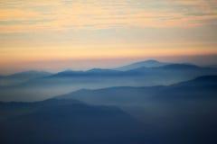 Профили горы стоковая фотография rf