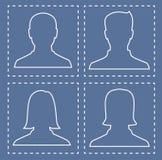 Профили людей, силуэтов в форме линий Стоковая Фотография