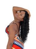 Профиль африканской женщины стоковое фото