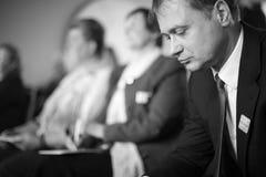 Профиль бизнесмена на встрече Стоковая Фотография RF