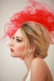 Профиль девушки с смычком Стоковое Фото