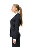 Профиль женского бизнесмена стоковое фото