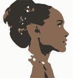 Профиль женщины Стоковое фото RF