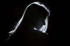 Профиль женщины Стоковые Изображения RF